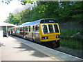 NZ0736 : Train at Wolsingham railway station by Les Hull