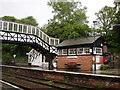 SX1164 : Bodmin Parkway, footbridge and cafe by Tom Jolliffe