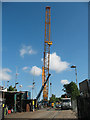 TQ3577 : Big crane at Surrey Canal Road (2) by Stephen Craven