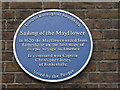 Photo of Christopher Jones and Mayflower blue plaque