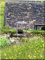 SE0428 : Lumb Mill, Wainstalls, Sluice to wheelhouse from the Dam by Michael Steele