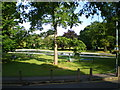 SJ8800 : Summer morning at Tettenhall Green paddling pool by Richard Law