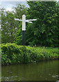 SJ9002 : Signpost at Autherley Junction near Wolverhampton by Roger  Kidd