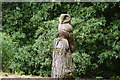 SJ7971 : A carved owl at Jodrell Bank by Ian Greig