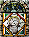 TM1992 : St Mary's church - east window detail by Evelyn Simak