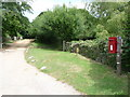 SZ0282 : Studland: postbox № BH19 168, Agglestone Road by Chris Downer
