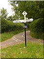 ST5800 : Sandhills: signpost at the Evershot turning by Chris Downer