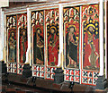 TM1192 : All Saints Church - rood screen dado (detail) by Evelyn Simak