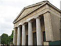 TQ3075 : St Matthew's church, Brixton - portico by Stephen Craven