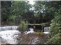 ST0542 : Weirs and sluice on the Washford River by Sarah Charlesworth