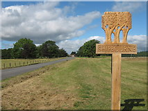 TQ5952 : Shipbourne Village Sign by David Anstiss