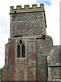 TM2887 : St Mary's church - the square round tower by Evelyn Simak