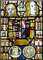 TM2887 : St Mary's church - east window detail by Evelyn Simak