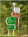 ST8612 : Iwerne Courtney: direction signs at Ranston by Chris Downer