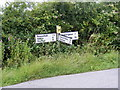 TM3371 : Roadsign on Heveningham Long Lane by Adrian Cable
