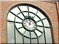 J3374 : Clock and window, Belfast by Albert Bridge