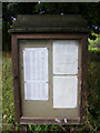 TM3864 : Kelsale cum Carlton Village Notice Board by Adrian Cable
