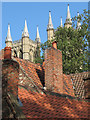 SK9771 : Lincoln: towers, chimneys and pantiles by John Sutton