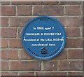 Photo of Franklin D. Roosevelt blue plaque