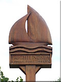 TM0818 : Brightlingsea Village Sign by Keith Evans