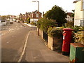 SZ0592 : Parkstone: postbox № BH12 153, Davis Road by Chris Downer