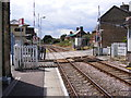 TM3863 : Albion Street Level Crossing, Saxmundham by Adrian Cable