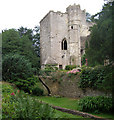 ST8693 : Ruined southwest tower of Beverstone Castle by C Michael Hogan