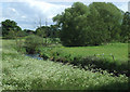 SJ8909 : The River Penk, near Brewood, Staffordshire by Roger  Kidd