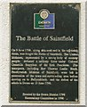 Photo of United Irishmen, Battle of Saintfield, Granville Anson Chetwynd-Stapylton, and Thomas Leslie Birch black plaque
