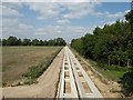 TL4555 : Guided busway under construction by Keith Edkins