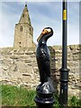 NZ3188 : Cormorant bollard at Church Point, Newbiggin by the Sea : Week 33