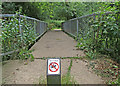 Dist:0.3km&lt;br/&gt;Foot bridge carrying the Thames Downs Link footpath over Hogsmill River upstream of Hogsmill railway bridge.http://www.geograph.org.uk/photo/1454347