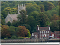 TQ7568 : St Mary's old church, Chatham from across the river by Stephen Craven