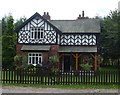 SJ8173 : Lodge near Astle Park by Glyn Drury