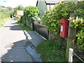 SY3698 : Fishpond Bottom: postbox № DT6 18 by Chris Downer