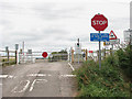 TL5892 : Level crossing on Black Horse Drove by Evelyn Simak