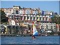 ST5772 : Brightly painted houses above the Floating Harbour : Week 37