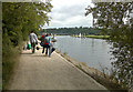 SK4831 : Trentside Path approaching Trent Lock by David Lally