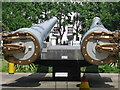 TQ3179 : Zoom shot of the cannons by Peter S