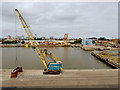 TA0927 : Waterside Crane at Albert Wright Dock : Week 37