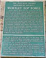 SK2999 : Information plaque, Wortley Top Forge, Stocksbridge by Humphrey Bolton
