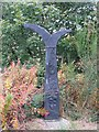NZ0847 : NCN mile marker and signpost by M J Richardson