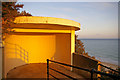 TG2142 : Shelter on access to Beach, Cromer, Norfolk by Christine Matthews