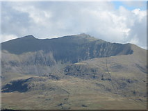 SH5953 : Llechog and Snowdon summit by David Medcalf