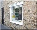 NZ1716 : Gainford butchers' shop window by Stanley Howe