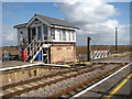 TL6484 : Signal box at Shippea Hill railway station by Evelyn Simak