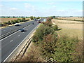 TL2173 : Above the A14 near Huntingdon by Richard Humphrey