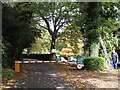 SP3168 : Rear drive to Cranford House, Blackdown by Robin Stott