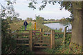 SK4530 : Footpath beside the River Trent, Hemington Fields by Stephen McKay