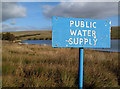 NY2782 : A public water supply sign at Winterhope Reservoir : Week 42